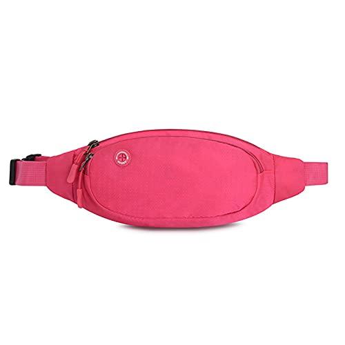 Lumanby Riñonera impermeable Riñonera deportiva al aire libre para hombres y mujeres, cinturón ajustable para exteriores, deportes, senderismo, viajes, Pink, 33*13cm/12.99*5.12inch,