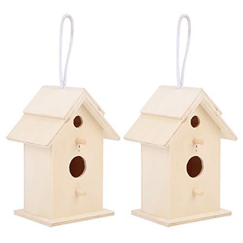 Omabeta Casa para Pájaros, Resistente A La Humedad Aspecto Hermoso Casa para Pájaros Envejecidos Caja para Nidos De Petirrojos Cajas para Pájaros Mesa para Pájaros En Reposo Viviendo, Anidando Y