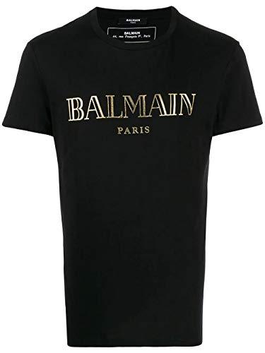Balmain Luxury Fashion Herren TH11601I312EAD Schwarz Baumwolle T-Shirt | Frühling Sommer 20
