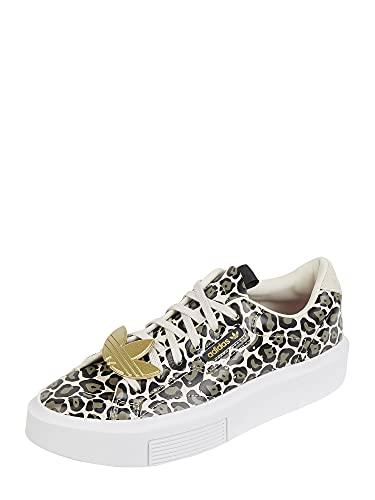 adidas Sleek Super W, Scarpe da Corsa Donna, Clear Brown Screaming Pink Gold Met, 38 2/3 EU