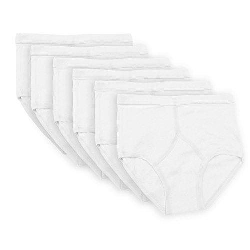 Socks Uwear 6Stück klassische Herrenslips, 100 prozent Baumwolle, Y-Stil an der Vorderseite Gr. XXL, weiß