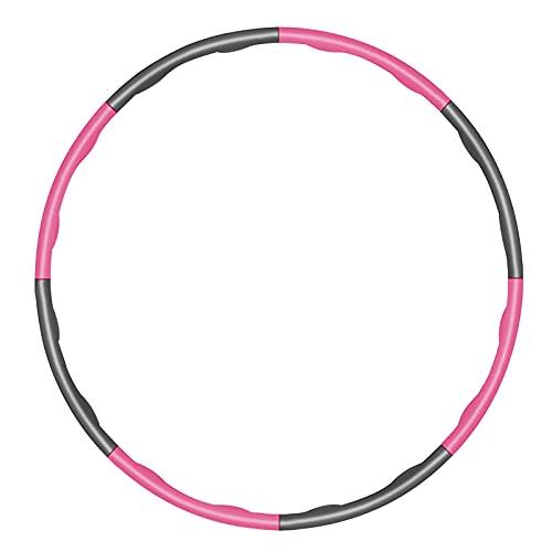 KOVEBBLE Fitnesskreis Hula Hoop Reifen für Erwachsene und Kinder, Abschnitte Hoola Hoop Reifen für Fitnessübungen, Gewichtsabnahme, Bauchformung