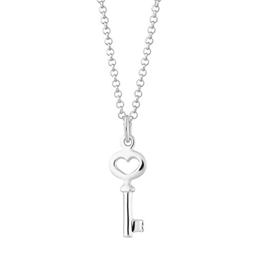 Lily Charmed - 925 Sterling Silver Key Necklace