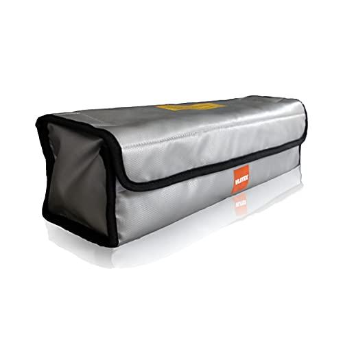 VLITEX E-Bike Akku Tasche Premium feuerfest bis 1.000°C || große feuerfeste Aufbewahrungsbox für alle ebike Akkus || Sicherheitstasche wasserfest und explosionssicher || 44x13x12cm