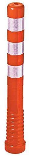 Absperrpfosten Kunststoff Flexiblel Und Überfahrbar, Aski 80/750, Orange Mit Retroreflektierenden Streifen