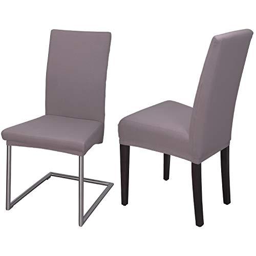 Staboos Stuhlhussen 2er Set aus 96% Baumwolle - Bi-elastische Stretch Stuhlüberzüge