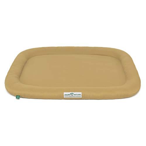 Hound & Nature Hundekissen Arosa - weiches Liegekissen für mittlere Hunde - Öko-Hundebett waschbar, hygienisch, robust & nachhaltig (M - 90x70 cm - Beige)