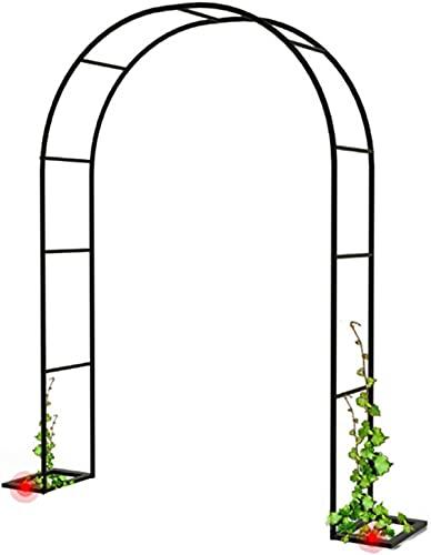 ETNLT-FCZ Metal Garden Arch, Arco para Rosas Arco De Flores para Jardín Patio Terraza con Revestimiento En Polvo para Plantas Soporte Rosas Escalada Archway Jardín Decoración