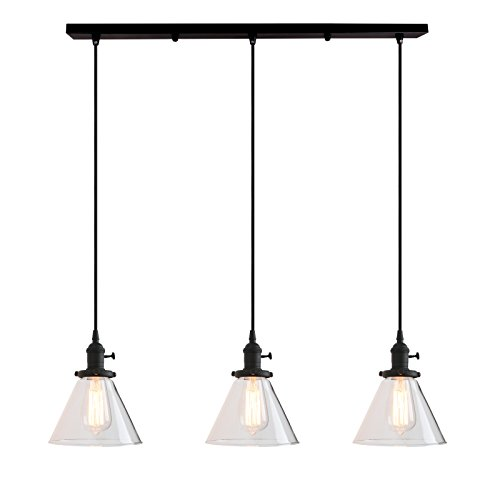 Permo Vintage Rustic Industrial 3-Lights Kitchen Island...
