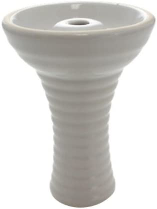 Ceramic Dedication El Paso Mall Funnel Hookah White Bowl -