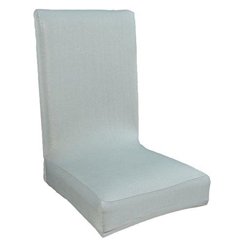 Kentop Funda elástica para silla, funda elástica para silla, funda bielástica, protección antimanchas, color gris plateado