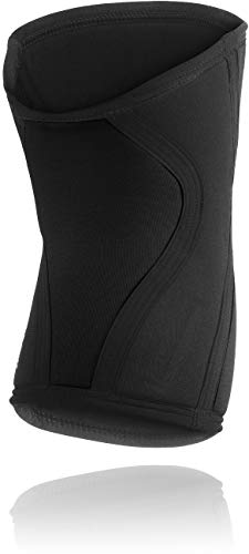 Ultimate Powerlifting Neoprene UP Knee Pads - Black with White Logo - FFForce Approved (S: 59 to 66kg)