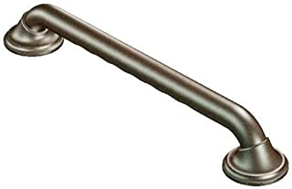 Moen R8718D3GOWB Ultima 18-Inch Designer Bathroom Grab Bar with Curl Grip, Bronze