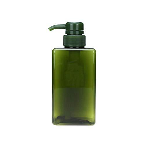 Minkissy Bouteille de Pompe à Savon Vide en Plastique Rechargeable Distributeur de Shampoing Conteneur de Savon pour Le Spa de L'hôtel à Domicile 450 Ml (Vert)