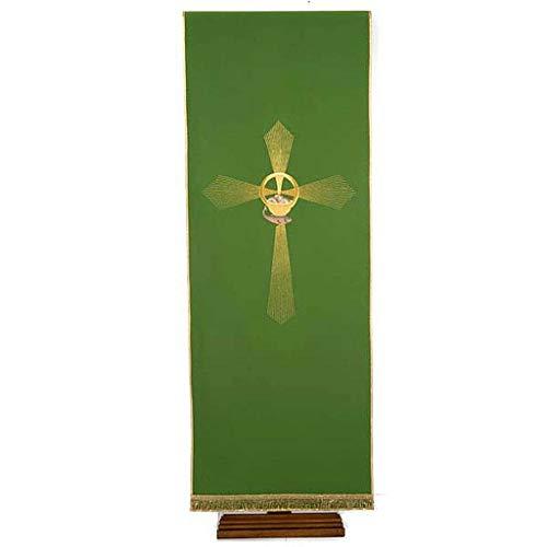 Holyart Lesepultbezug Kreuz strahlenförmig, Brote und Fische, WeiÃ?