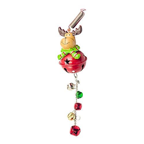 Yestter - Colgante de árbol de Navidad con diseño de árbol de Navidad, hecho de hierro forjado, colgante de campana de Navidad, diseño de Santa ciervo, muñeco de nieve, adorno de cuerda de Navidad