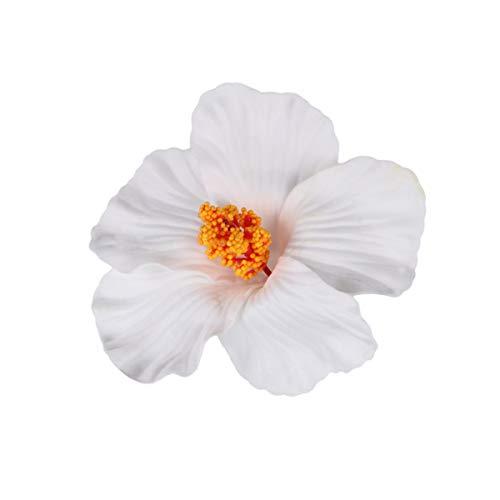 Lurrose 10 stücke Hibiskus Haarnadeln Hawaii Blume Haarspangen Sommer Gastgeschenke DIY Künstliche Blume Haarspangen Hula für Mädchen