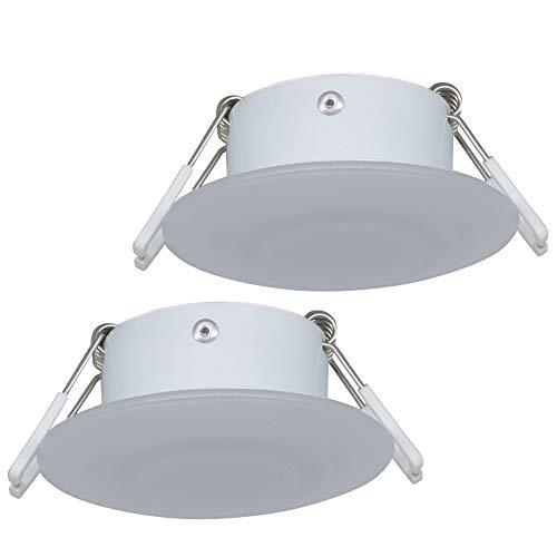 Facon Runde 12 V LED Puck Licht Einbauleuchte für Campervan Wohnmobil Wohnwagen Anhänger Boot Marine und Fahrzeug