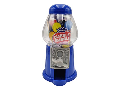 DUBBLE BUBBLE GUMBALL MACHINE MINI, Máquina de bolas de chicle, 3 colores: azul, amarilla o roja