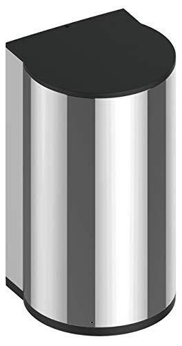 Keuco Desinfektionsmittelspender automatisch mit Sensor, verchromt/Schwarzgrau, nachfüllbar ca. 700ml Wandmodell Batteriebetrieb inkl. Desinfektionsmittel septLIQUID Plus 4110704603 von Hagleitner