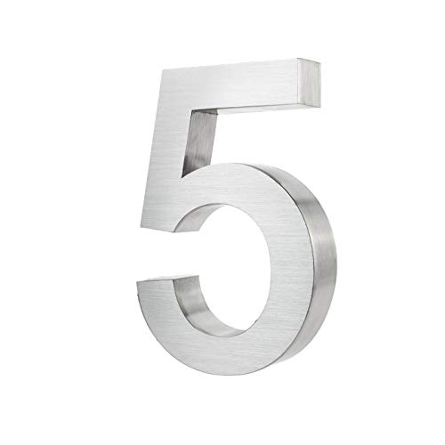 1 Stück Aufkleber Hausnummer Wetterfest, 5cm 3D 0-9 Nummer Briefkasten Haustür DIY Zahl Startnummer Zahlen Nummern