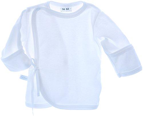 Hemdchen Wickelshirt Babyhemdchen Shirt Flügelhemdchen 50 56 62 68 Creme Hemd (56)