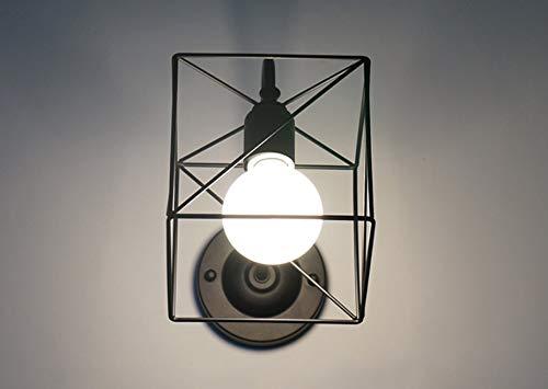 Eenvoud Draadkooi Wandkandelaars Hanglamp Armatuur Metalen lampkooi voor keuken Slaapkamer Woonkamer, 220V E27.