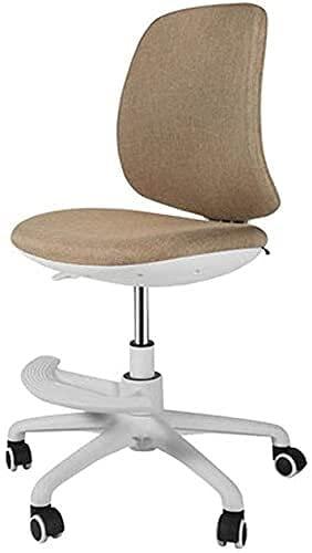 JYHQ Silla de oficina para computadora de tela cómoda, silla de oficina, altura ajustable, con base cromada, silla giratoria, para hogar/oficina (color: rojo vino), color marrón