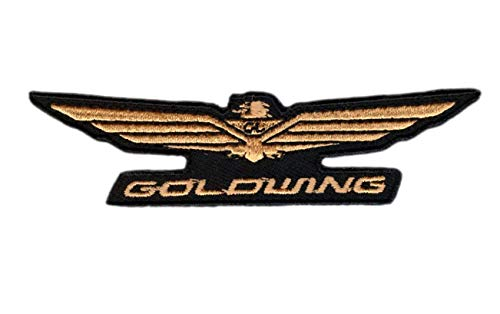 Titan One Europe - Gold Wing Patch Parche Motero Bordado (Termoadhesivo)