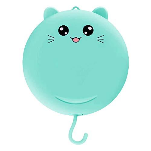 Serria Petit Ventilateur USB Ultra Silencieux Portable - Mini Ventilateur portatif - Miroir de Maquillage de beauté de beauté de Chat chargeant Le Petit Ventilateur