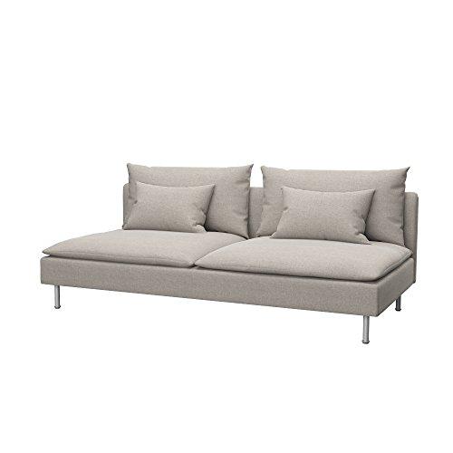Soferia - IKEA SÖDERHAMN Funda para sofá Cama, Classic Dark Beige