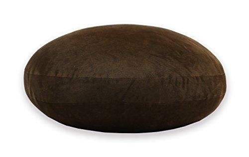 JEMA ジェマ 抱き枕 マシュマロ ラウンドクッション もちもちクッション もっちり なめらか 丸型 直径60cm 濃いブラウン