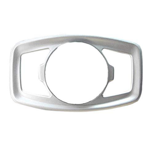 chenchen Ajuste de la cubierta del botón del interruptor de la luz antiniebla del coche ajuste para Ford Fusion 2013-2018 (color: plata)
