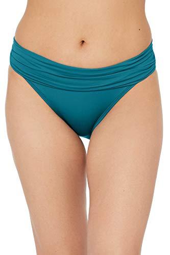 La Blanca Damen Island Goddess Shirred Band Hipster Bikini Swimsuit Bottom Bikinihose, Karibischer Strom, 42