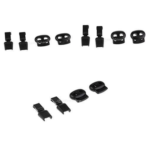 Sharplace 3X Schnürsenkel Schnalle Seilklemme Cord Lock Stopper für Outdoor Sporting