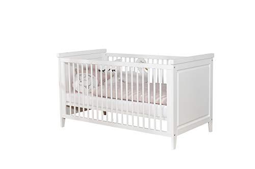 Ticaa Babyzimmer Morgenroth 5-teilig Massivholz Weiß