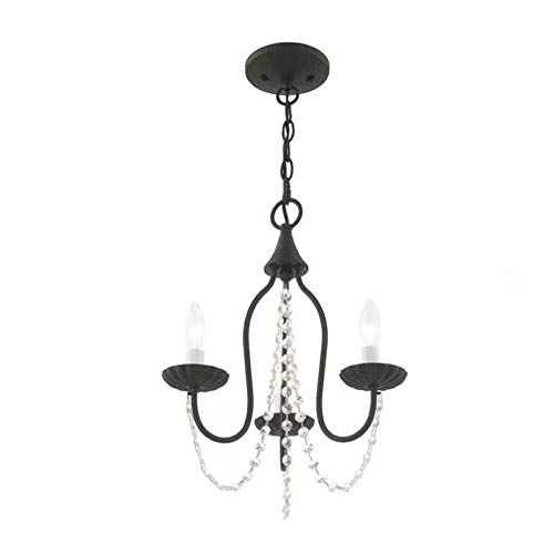Aero Snail 3-Light Vintage Antique Mini Candle Chandelier...