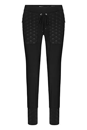Raffaello Rossi Damen Jogging Pants mit Kontrasteinsätzen Candy Sci Fi Größe 40 EU Schwarz (schwarz)