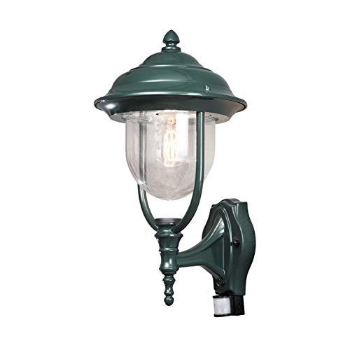 Konstsmide Parma 7235-600 Wandleuchte / B: 24cm T: 29cm H: 49cm / 1x75W / IP44 / lackiertes Aluminium / grün / mit BWM