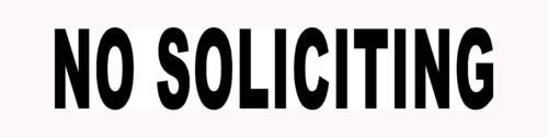 GEEN SOLICITING Sticker Zakelijke Deur Venster Vinyl Decal Verkopen Verboden Glas - Die gesneden vinyl decal voor ramen, auto's, vrachtwagens, gereedschapskisten, laptops, MacBook - vrijwel elk hard, glad oppervlak