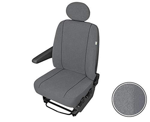 Einzelsitzbezug Sitzbezug Sitzschoner Fahrersitzbezug Set robuste Stoff in grau