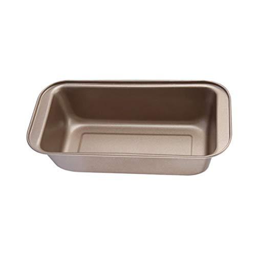 BESTONZON Molde antiadherente para pan/pan, molde para hacer pasteles (dorado/rectangular)