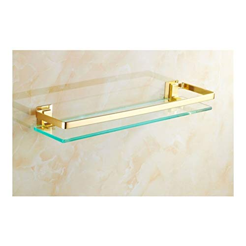 Zwemdock Glazen plank, mand, keuken, ruimte-aluminium, roest proof met brede omheining, stabiele badkamer organizer 40~60 cm 01-30