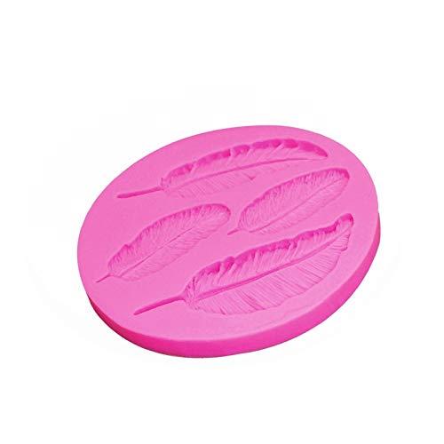 HED Plumas De Aves De Chocolate Fudge Cake DIY Que Adorna Las Herramientas De Silicona Molde De Hornear De Encaje Utensilios De Cocina (Color : Pink)