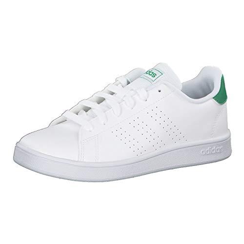 adidas Advantage K, Zapatos de Tenis Unisex Adulto, Blanco Blanc Vert Gris, 38 EU