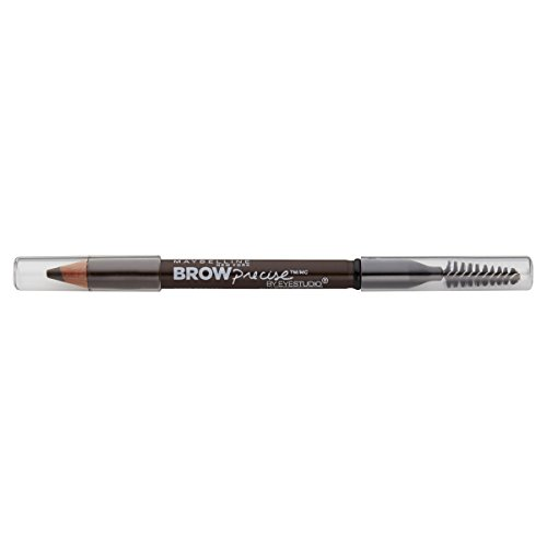 Maybelline New York Brow Precise Shaping Eyebrow Pencil, Deep Brown, 0.02 oz.
