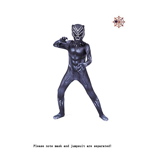 Kostuum Jongens Party Cosplay Kostuum Kostuum Kids Avengers Zwarte Panter Kostuums Superhero Kerst Carnaval Small Zwart