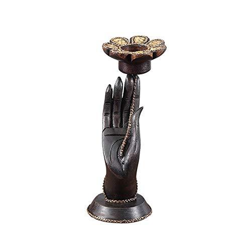 ZTIANEF Figuritas Decorativas Escultura Decoración De Candelabro Tallado Diseñador Bergamota Adornos De Decoración Mesa De Centro Tailandesa Porche Accesorios De Escritorio