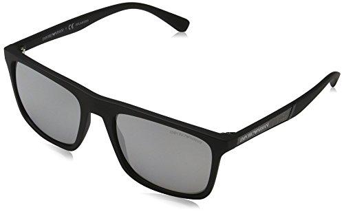 EMPORIO ARMANI 5042Z3 Gafas de sol, Matte Black, 56 Unisex-Adulto