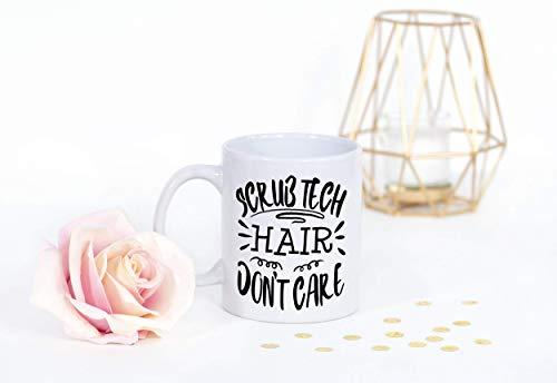 Taza de café divertida de tecnología de exfoliación quirúrgica - cabello de tecnólogo quirúrgico no importa nuevo trabajo gracias regalo de graduación o tecnología